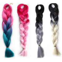 african hair braiding styles - Africa Style Synthetic Big Braids Colorful Wigs Ponytail Braids African Sfumatura Hairpiece Head Accessories Plait Synthetic Braiding Hair