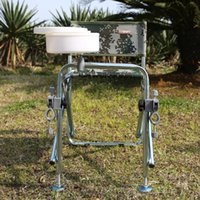aluminum bag chair - multifunction folding fishing Rod Rack chair Aluminum fishing stool Camping Fish Stool With Backrest and Storage Bag Camouflage
