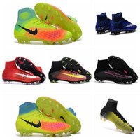 Wholesale CR7 Mercurial Superfly FG Mens Football Boots New Kids Soccer Shoes Magista Obra Women Youth Soccer Cleats Children Boys Soccer Boots
