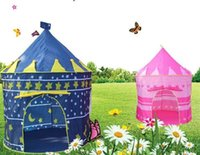 Cheap 48PCS Kids Play Tents Teepee Prince and Princess Palace Castle Baby Toy House Tent Game House