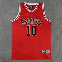 basketball uniforms - Active Basketball Shohoku Basketball Team Sakuragi Hanamichi Jersey Tops Shirt Sports Wear Uniform SLAM DUNK Cosplay Size M L XL XXL
