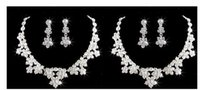 american jewelery - New Hot Seller Wedding Shining Rhinestone Flower Bridal Bride Jewelery Accessories Crystals Necklace and Earrings piece Sets