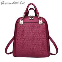 Wholesale Quality Assurance Backpack New Trends Retro Flower Spring And Summer Student Bag Fashion Leisure Handbag