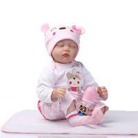 baby slumber - Sweet Slumber Lovely Pink Princess Girls Lifelike Weighted Baby DOll Soft Vinyl Silicone Real Bonecas Bebe Reborn Cute Kid Toys