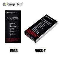 100% Original Kanger Upgraded Dual Coils VOCC VOCC-T Bobine pour Kangertech Aerotank Mini protank 3 EVOD 2 verre Topevod kit