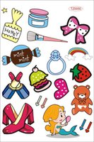 beauty trolley bag - Cute Carton Women Beauty Makeup Logos Travel bag trolley luggage laptop stickers Waterproof Sunscreen PVC stickers