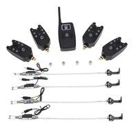 alert illuminated - Wireless Digital Fishing LED Alarm Alert Set with LCD Screen Indicator Illuminated Swinger in Case for Carp Fishing