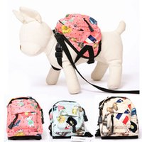 Wholesale Leg Leash - pet carriers dog backpack snack Pack leash dog Pack Pet Backpack Dog Bag Chest Pack Dog Carrier Legs Pets Supplies