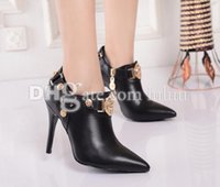 ankle boots dresses - Brand pointed sexy High Heels Fashion Pointed Shoes High End Luxury Ankle Boots Heels Sexy Motorcycle Zipper Party Sequined Martin Boots