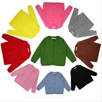 Wholesale Baby Girls Boys Sweater Coat Long Sleeve Knit wear Coat Fashion Yrs Infant Sweaters Cardigan Children s Clothing More Colors