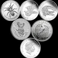 australian kookaburra silver - Mix Australian Oz Silver Coin Spider Crocodile Koala Kookaburra Wedge Tail Eagle