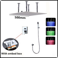 Wholesale Bathroom use Led shower head inch led ceiling shower head with message body jets hydro power led shower set