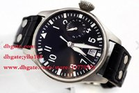big mens watch - 2016 Mens Top Wristwatch HOT Power Reserve Big Pilot Day Day Black automatic mechanical Mens Watch