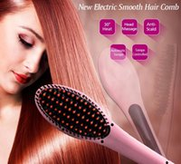 Wholesale fast shipping personal use digital hair straightener comb and electrichair styling brush ionic straighten hair brush