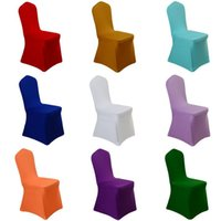 Wholesale White Hotel Wedding Banquet Seating Covers Conjoined Elastic Chair Back Cover Home Decor Seat Cover