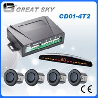 Wholesale China top quality digital parking sensor for all brand car truck LED display and sensors for front or rear parking assistance CD01 T2