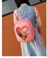 Wholesale New Leisure backpack Japanese sweet cute girls love transparent small bags mini student backpack backpack