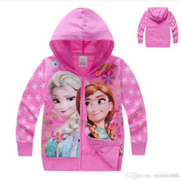 Wholesale baby girls and boys jacket kids hoodies coat children clothing kids pure cotton cartoon Frozen coats new style autumn winter coats