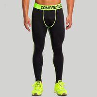 Wholesale Fashion Mens Compression Pants Sports Running Spandex Men Sport Tight Pants Jogging Fitness Leggings High Elastic Trousers
