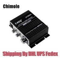 Wholesale Lepy LP A Hi Fi Audio Amplifier Stereo Power Amplifier Car Amplifier with Power Supply A Power W x RMS Black
