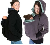 baby active wear - Baby Carrying Jacket Baby Carrier Hoodie Kangaroo Coat Jacket for Mom and Baby Wearing Hoodie Maternity Sweater