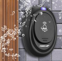 bell retail - Retail Waterproof Black Doorbell EU Plug in V Digital LED Music Tune Melody Remote Control Wireless Door Bell for home security