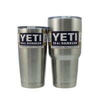Wholesale YETI Bilayer Stainless Steel oz oz oz YETI Cup Coated in Neon Double Wall Bilayer Vacuum Mug