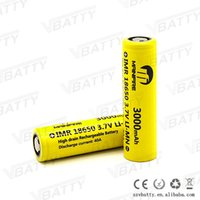 Wholesale Mainifire ecig box mod battery Imr18650 mah a battery vs lg hg2 mj1 mh1