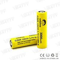 Wholesale Mainifire ecig box mod battery Imr18650 mah a battery vs lg hg2 mj1 mh1