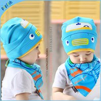 baby bandana hats - 20pc New Styles Spring Autumn Car Design Kids Cotton Boys and Girls Bandana Bib Knit Baby Hat and Scarf