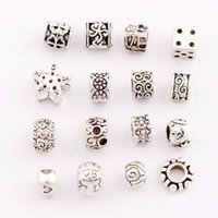antique jewelry beads - 160ps styles Antique Silver Moon Star Rose Heart Love Charm Loose Alloy Beads Dangle Fit European Bracelets Jewelry DIY LM19