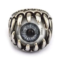 Wholesale Hot sales Unique Black Eye Ball Ring in L Stainless Steel for men It s sizeUnique Black Eye Ball Ring in L Stainless Steel