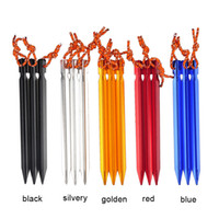aluminium buildings - Outdoor Sports Camping Hiking Equipment Outdoor Traveling Building Aluminium Alloy Stake Tent Peg Nail With Rope New Arrival