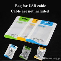 Wholesale Retail Bag PP Potable Packing Bags for Micro USB Cables Sync Chaeger Data Cord Samsung HTC Android Samrtphones with Hand Hole