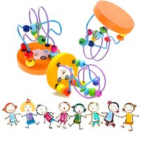Wholesale Children Kids Baby Colorful Wooden Mini Around Beads Educational Toy Kids Toys Game Toys