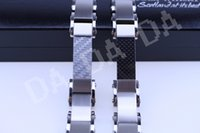 Wholesale Punk Style Stainless Stell Bracelet Mens Chain Clasp Link Bracelets Silver Tone Jewelry Gift