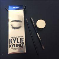 Wholesale Kylie Cosmetics Dark Bronze Eyeliner Kyliner Kylie Jenner Birthday Collection Dark Bronze Eyeliner Kit with Eyeliner Gel pot