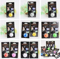 bell equipment - 2016 new Dog LED Flash Safety Night Light Keychain Tag Anti lost Flashing Dogs Blinker Collars Equipment color Dog Tag Pet Supplies A0005