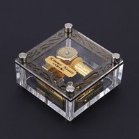 Wholesale Elfen Lied Note Wind up gold mental musical movement Musical box cm could put your picture in