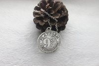 american express gifts - antique silver bronze Harry Potter Necklace Hogwarts Express Station Platform charm Pendant Necklace