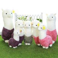 alpaca pillow - 3pcs Sheep plush doll Alpaca animal Cutest pillow Soft Stuffed plush toys birthday gifts for children