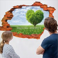 Wholesale 3D Wall Stickers Beautiful Discovering the Aegean Sea PVC Washable Wall Decals
