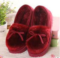 Wholesale 2016 winter new home cotton shoes women slippers outdoor bean diafu shoes female cotton slippers retail