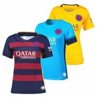 slim away - Thai quality Barcelona ladies football jerseys Home away Messi Suarez woman soccer jerseys FC cheap fusstball shirts suit