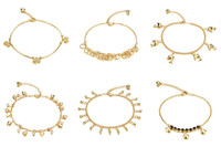 Wholesale Mixed order Fashion accessories K Gold Plated women s anklets