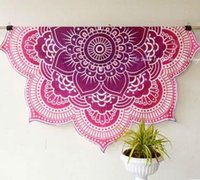 Wholesale 2016 Hot Dropshipping Summer New Flower Beach Towel Mats Camping Blanket Wall Decor Tapestries Bedspread Mandala
