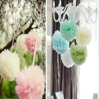 baby shower rooms - 40pcs m quot mixed colors Tissue Paper Pom Poms For Wedding Party Decoration Craft Room Pompoms Decor Baby Shower Party Poms
