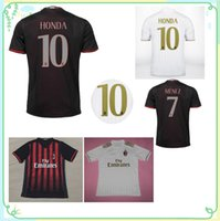 Wholesale New AC Milan soccer jersey BACCA home red away white BERTOLACCI MENEZ HONDA top quality AC Milan football shirts soccer jersey