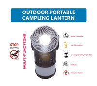 Wholesale New Design Camping Lantern with strong Cooling Fan FM radio Mosquito repeller