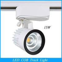 Wholesale 2015 LED lights Retail W COB Led Track Light Spot Wall Lamp Soptlight Tracking led AC85 V light